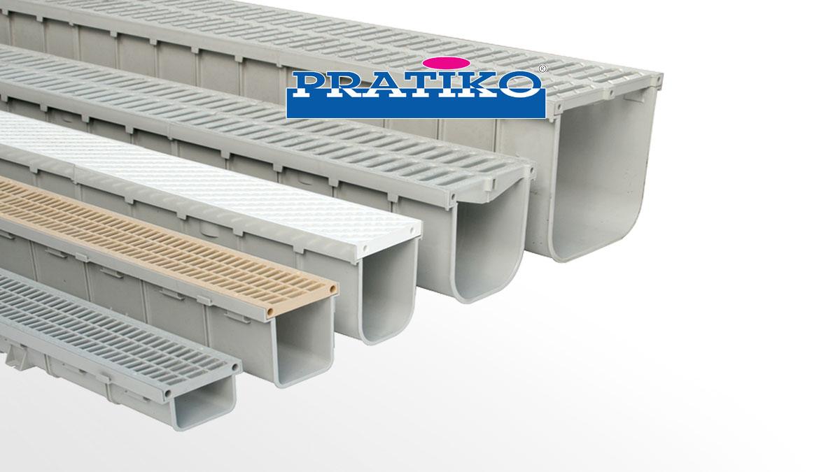 PVC drainage channels PRATIKO