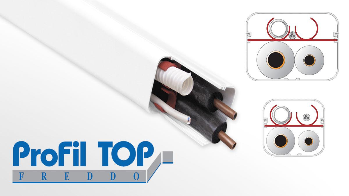 Split connection system Profil Top Freddo